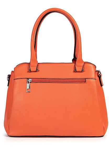 Styleboom Fashion Damen Kunstleder Handtasche 40x25cm Frontpocket orange