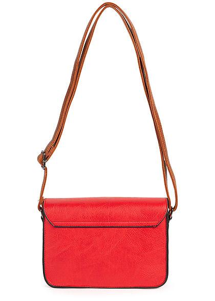 Styleboom Fashion Damen Kunstleder Mini Handtasche 23x15cm rot