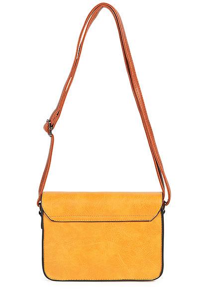 Styleboom Fashion Damen Kunstleder Mini Handtasche 23x15cm gelb