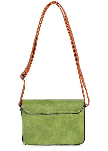 Styleboom Fashion Damen Kunstleder Mini Handtasche 23x15cm grün