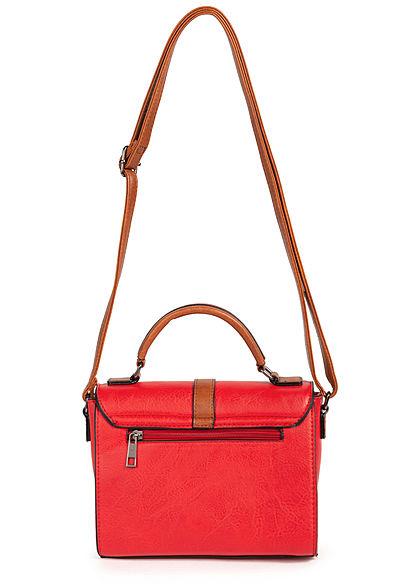Styleboom Fashion Damen Kunstleder Mini Handtasche 22x17cm rot