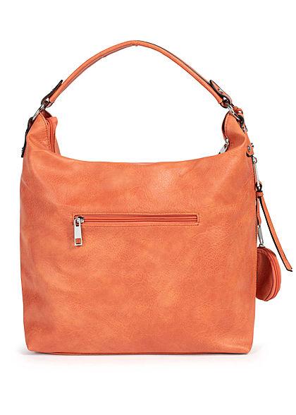 Styleboom Fashion Damen Kunstleder Handtasche 36x33cm Stitches orange