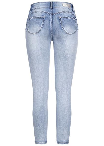 Hailys Damen High-Waist Pushup Skinny Jeggings Jeans Hose 2-Pockets hell blau denim