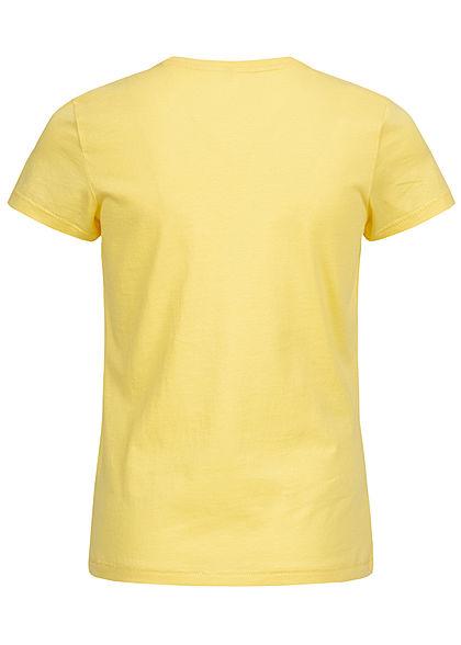 ONLY Kids Mädchen T-Shirt ugh. Strasssteinpatch pineapple slice gelb