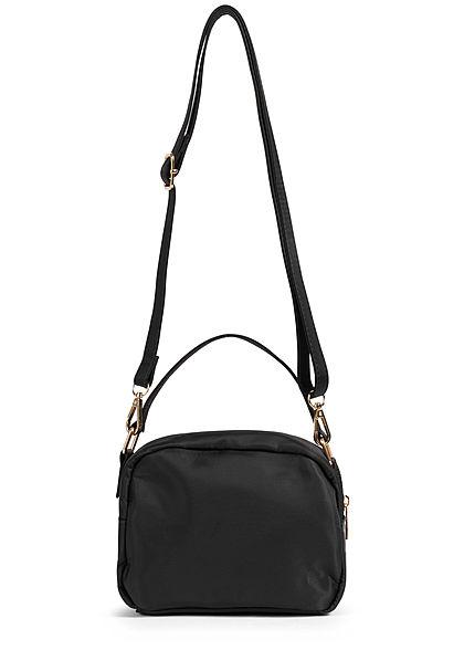 Hailys Damen Mini Handtasche 2-Pockets 20x17cm schwarz