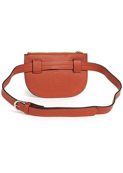 Hailys Damen Mini Gürteltasche 1 Zip-Pocket 20x14cm caramel braun