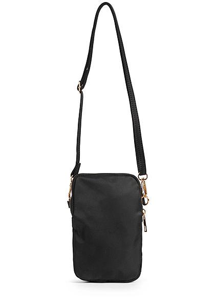Hailys Damen Mini Handtasche 2 Zip-Pockets 13x20cm schwarz