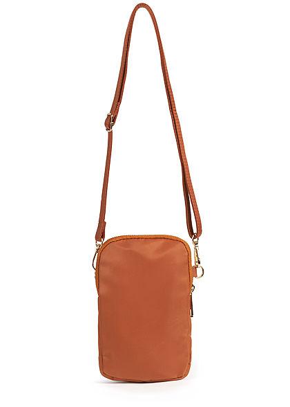 Hailys Damen Mini Handtasche 2 Zip-Pockets 13x20cm hazel braun