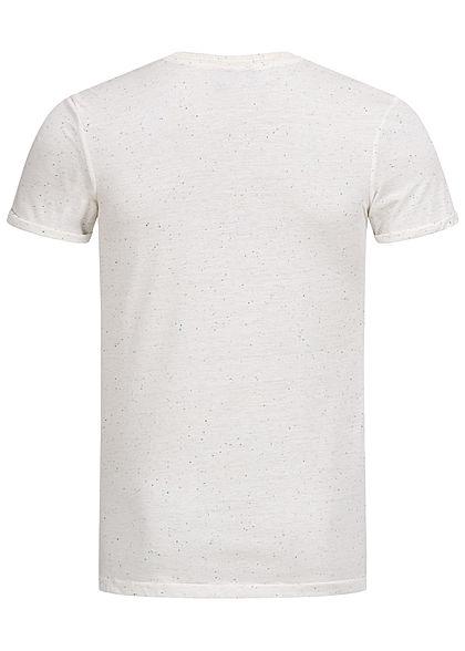 Hailys Herren Melange T-Shirt Brusttasche weiss mint