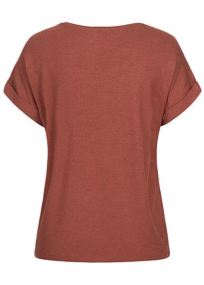 ONLY Damen NOOS T-Shirt henna braun