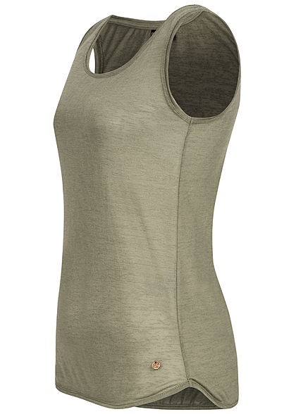 Eight2Nine Damen Basic Jersey Tank Top ivy oliv grün
