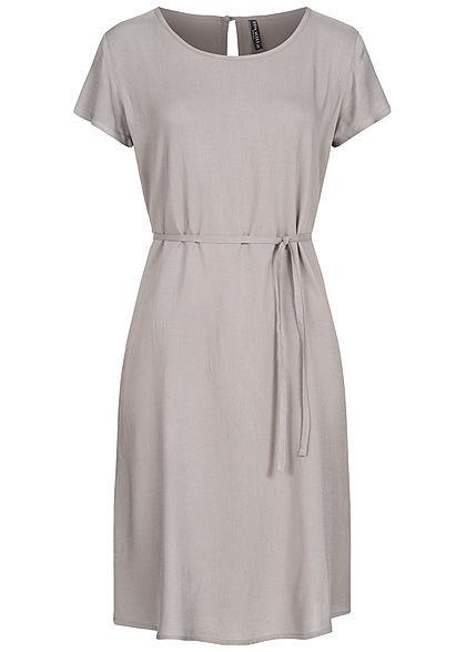 Fresh Made Damen Midi Viskose Kleid inkl. Bindegürtel ...