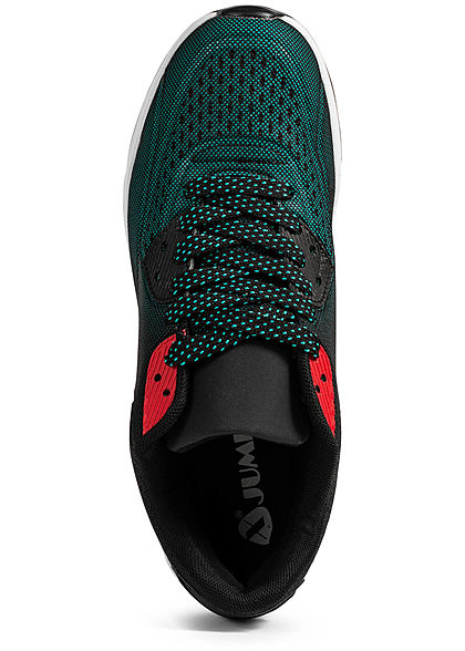 Seventyseven Lifestyle Herren Schuh Sneaker Ombre Look grün schwarz rot