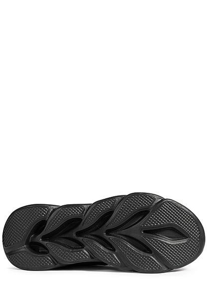 Seventyseven Lifestyle Herren Schuh leichter Running Sneaker schwarz weiss