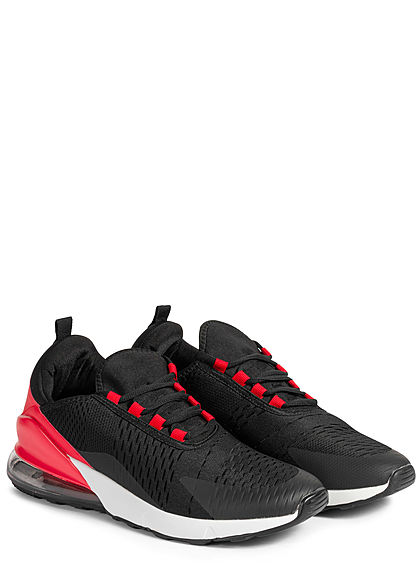 Seventyseven Lifestyle Herren Schuh 2-Tone Sneaker rot schwarz