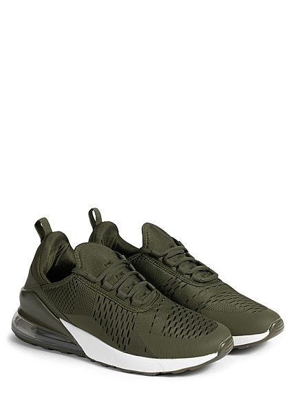 Seventyseven Lifestyle Herren Schuh 2-Tone Sneaker army grün weiss