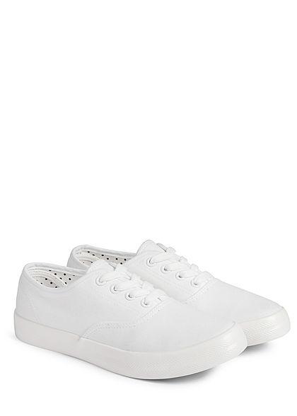 Hailys Damen Schuh Canvas Sneaker weiss