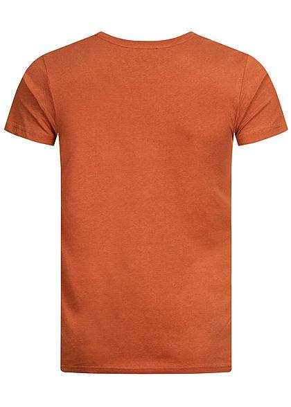Sublevel Herren T-Shirt Tropical Beach Print orange