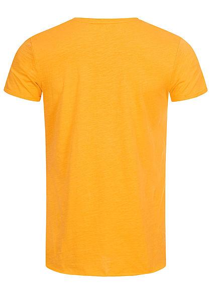 Eight2Nine Herren Longform T-Shirt offene Kanten by Sky Rebel senf gelb