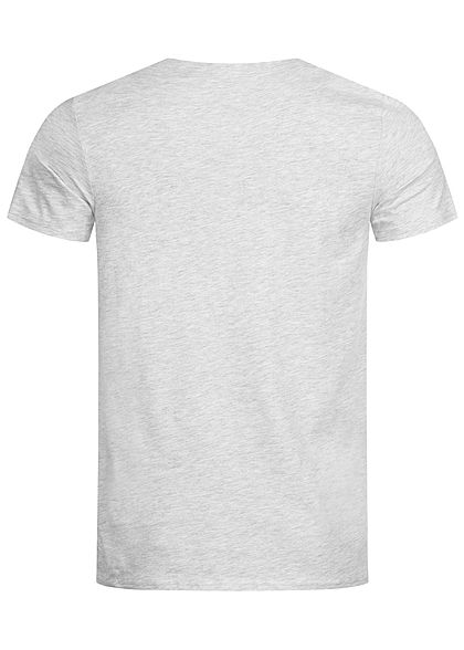 Hailys Herren T-Shirt California Print hell grau