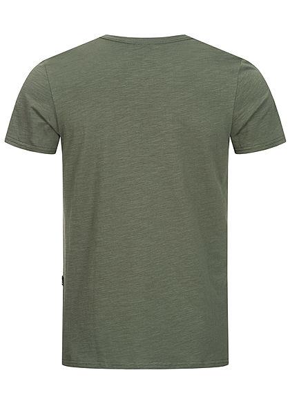Hailys Herren T-Shirt mit Brusttasche khaki grün