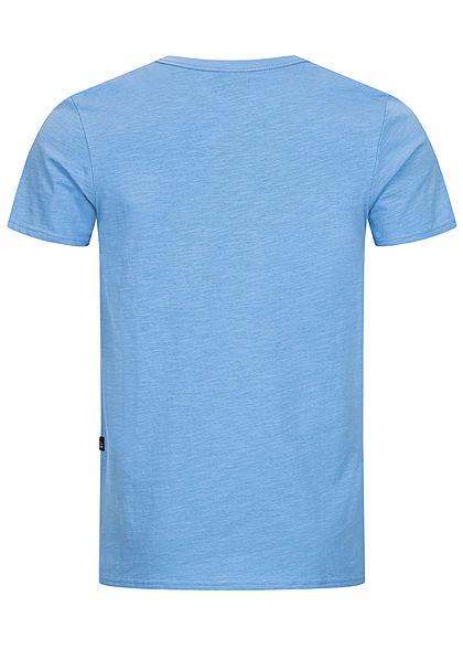 Hailys Herren T-Shirt mit Brusttasche blau