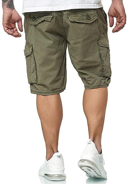 Urban Surface Herren Vintage Cargo Shorts 6-Pockets dusty oliv