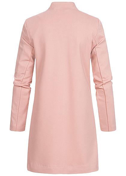 ONLY Damen Poptrash Coatigan Long Blazer 2-Pockets offner Schnitt pale mauve rosa