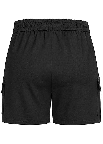 ONLY Damen Poptrash Cargo Shorts 4-Pockets schwarz