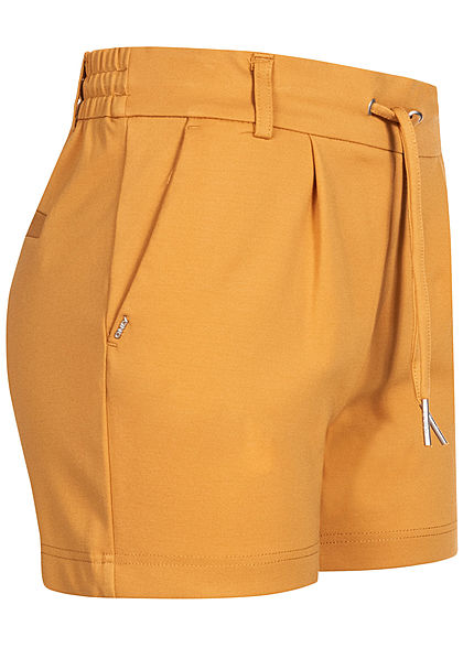 ONLY Damen NOOS Poptrash Shorts 2-Pockets Tunnelzug spruce gelb