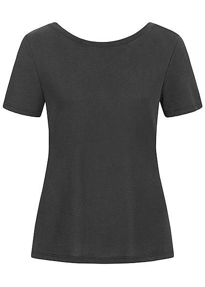ONLY Damen T-Shirt Kreuzung Rückseite schwarz