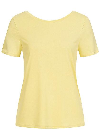ONLY Damen T-Shirt Kreuzung Rückseite pineapple slice gelb