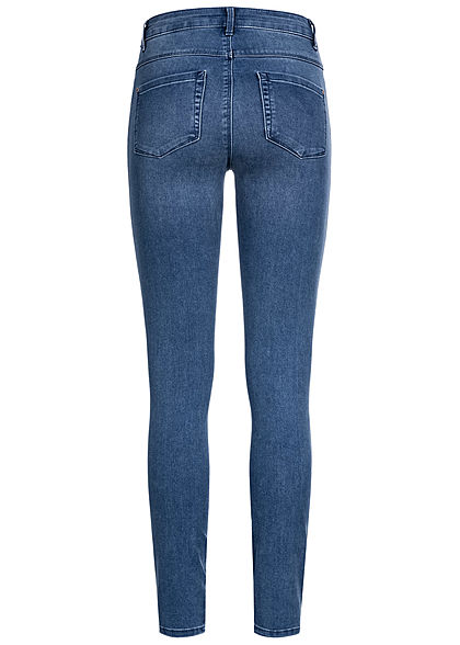 ONLY Damen NOOS High-Waist Skinny Jeans Hose 5-Pockets medium blau denim