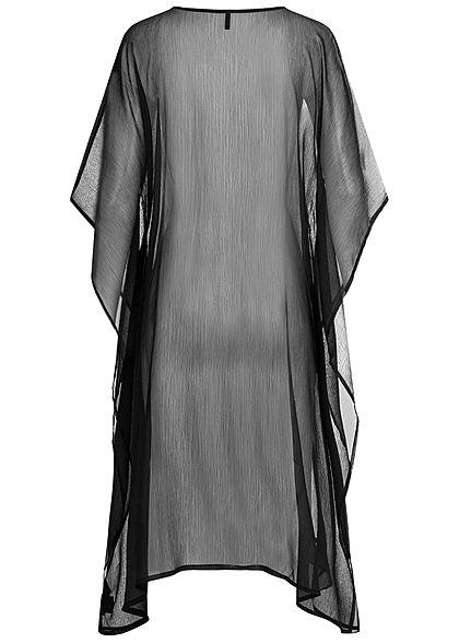 ONLY Damen 3/4 Arm Strand Frill Cardigan Kimono schwarz