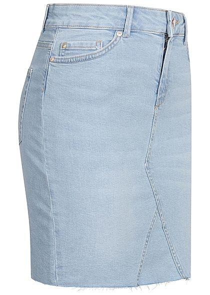 ONLY Damen Jeans Rock 5-Pockets hell blau denim