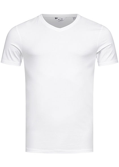 ONLY & SONS Herren NOOS T-Shirt V-Neck weiss