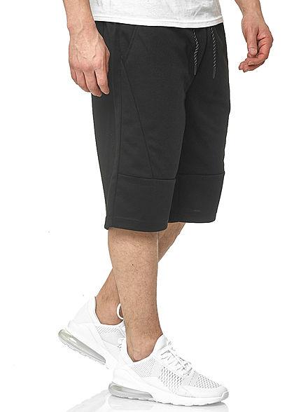 Southpole Herren Tech Fleece Shorts Tunnelzug Uni 3-Pockets schwarz