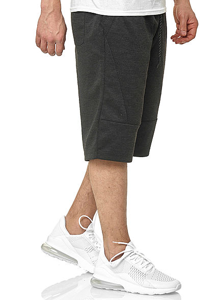 Southpole TB Herren Tech Fleece Shorts Tunnelzug Uni 3-Pockets charcoal d. grau