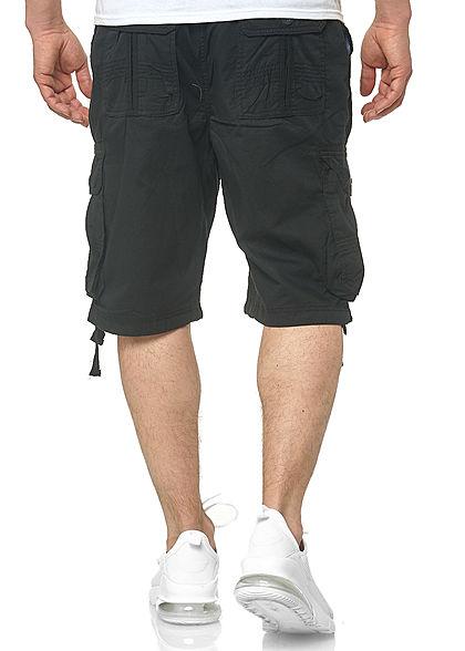 Southpole Herren Cargo Jogger Shorts 6-Pockets Tunnelzug schwarz
