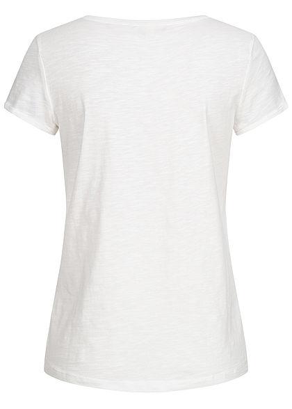 TOM TAILOR Damen T-Shirt Streifen Muster weiss hell blau