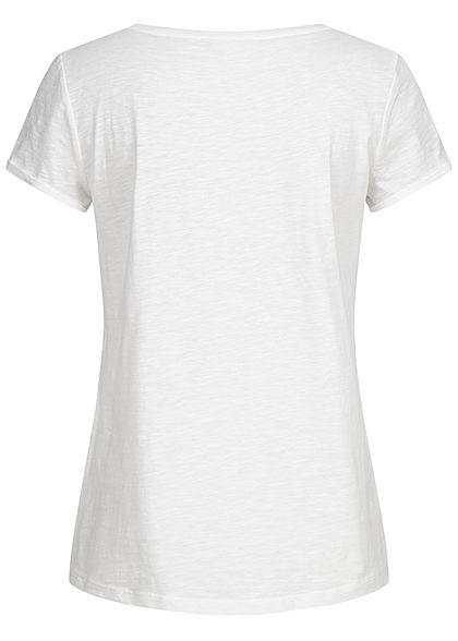 TOM TAILOR Damen T-Shirt Streifen Muster weiss navy blau