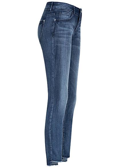 TOM TAILOR Damen Slim Fit Jeans Hose 5-Pockets Low Waist medium blau denim