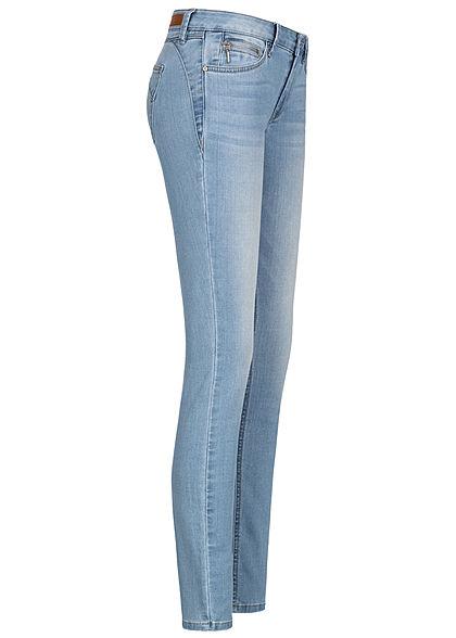 Tom Tailor Damen Extra Skinny Jeans Hose 5-Pockets Low Waist random bleached blau denim