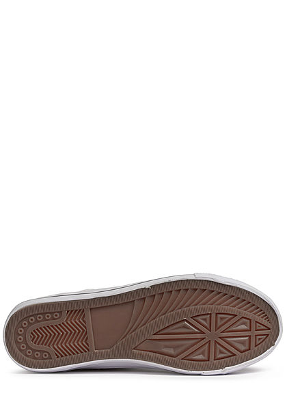 Seventyseven Lifestyle Damen Schuh Canvas Sneaker Häkel- Optik weiss