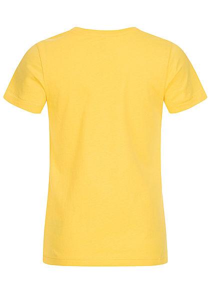 ONLY Kids Mädchen T-Shirt Wendepailletten Smoothie Print primerose gelb