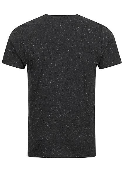 Brave Soul Herren T-Shirt Punkte Muster schwarz weiss