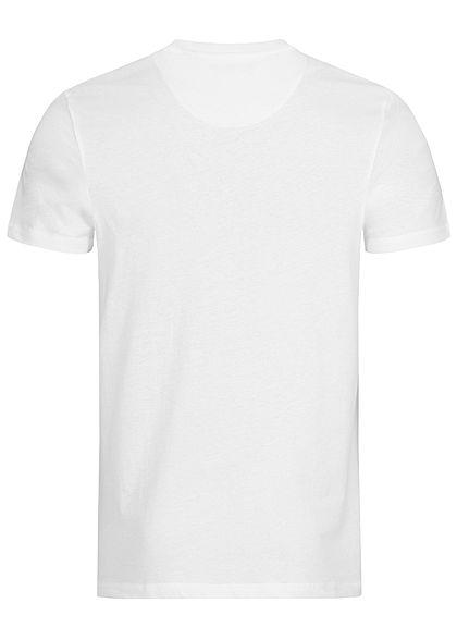Brave Soul Herren Basic Jersey T-Shirt Brusttasche weiss