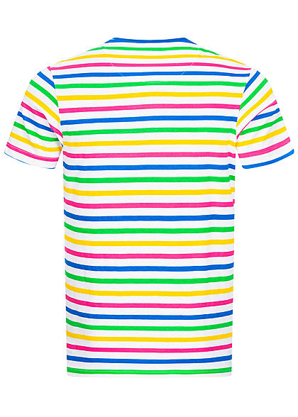 Brave Soul Herren T-Shirt Streifen Muster multicolor
