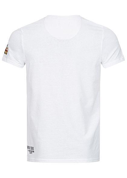 Brave Soul Herren T-Shirt Brave Soul Print weiss