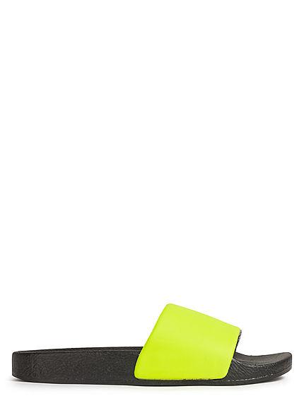 Brave Soul Herren Schuh Badesandale 2-Tone neon gelb schwarz